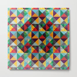 TRIANGLES ETNO Metal Print