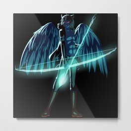 Luc Ready for Battle (Black/Dark Background) Metal Print