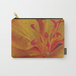 Yellow Lily Up Close Solarized Colors #3 Carry-All Pouch