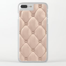 Beige upholstery pattern Clear iPhone Case
