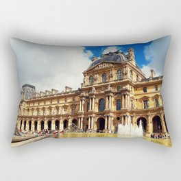 The Louvre museum Rectangular Pillow