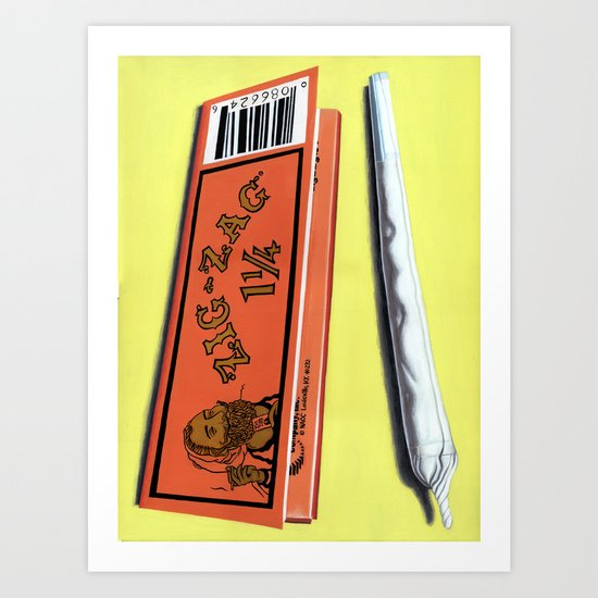 Zig-Zag Art Print