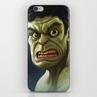 hulk iPhone & iPod Skins featuring Hulk by Jeff Delgado
