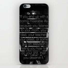 "Frank Zappa - ""You Deserve It."" iPhone Skin"