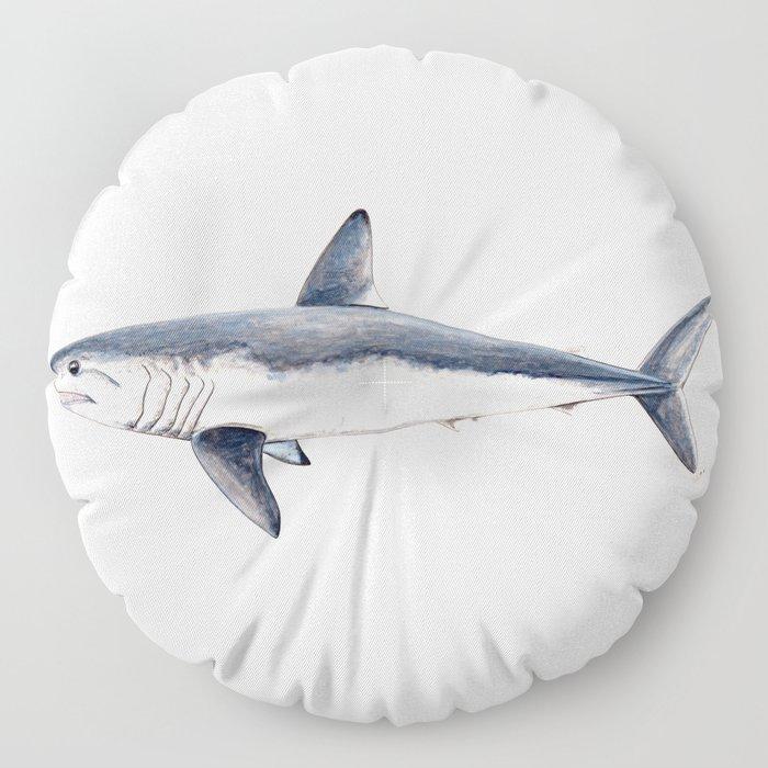 Porbeagle shark (Lamna nasus) Floor Pillow