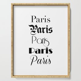 Paris City Quote Sign, Digital Download, Calligraphy Text Art, World City Typography Print, Wall Art Serving Tray