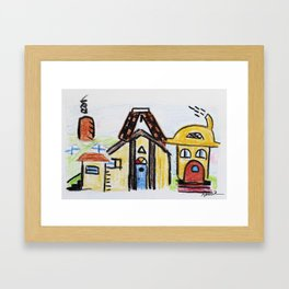 At The Play House Framed Art Print