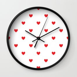 Heart shape print Wall Clock
