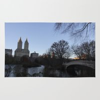 central park Area & Throw Rugs featuring Central Park  by Scene by Emily