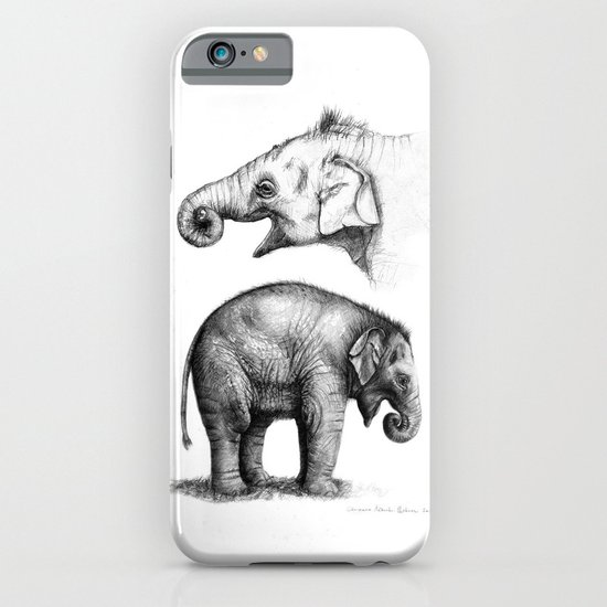 Baby Elephant study G2011-008c iPhone & iPod Case