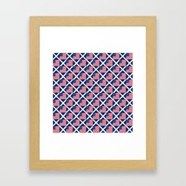 Mix of flag: usa and scotland Framed Art Print