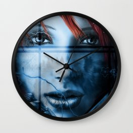 Forest Eyes Wall Clock