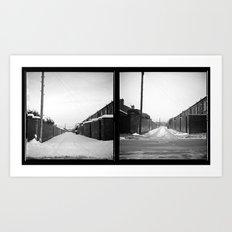 Snow x 2 Art Print