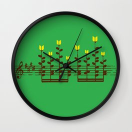 Music notes garden Wall Clock