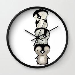 Penguin totem Wall Clock