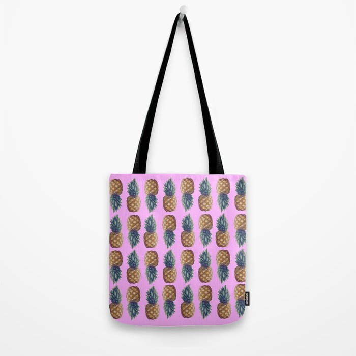 pineapples pink Tote Bag