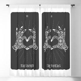 Minimal Tarot Deck The Lovers Blackout Curtain