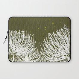 Olive Doodle Floral by Friztin Laptop Sleeve