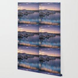 Nature's Hues Sunset at Half Moon Bay Wallpaper