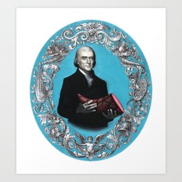 Thomas Jefferson with Ham Art Print