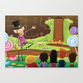 Willy Wonka's Chocolate Factory Canvas Print