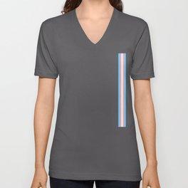 Gay Pride LGBT Transgender Long Stripe Flag Unisex V-Neck