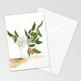 Kumquats and Green Leaves Stationery Cards