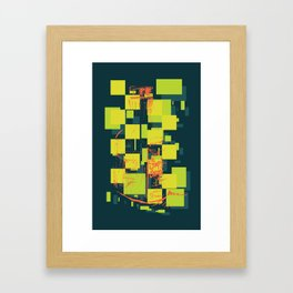Color Orange Juice Illustration Framed Art Print