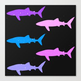 Sparkly Whale Sharks Canvas Print