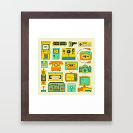 RETRO TECH Framed Art Print