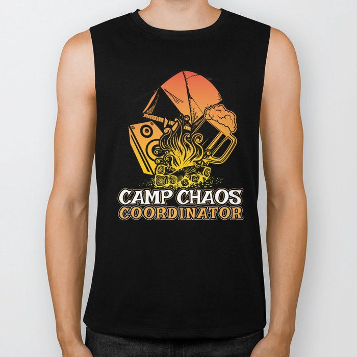 Funny Camp Chaos Coordinator Gift for Camp Chaos Coordinators | Summer Camp Camping Biker Tank