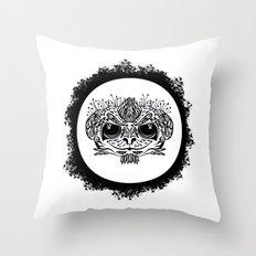 Half Evil Wild Monkey Throw Pillow