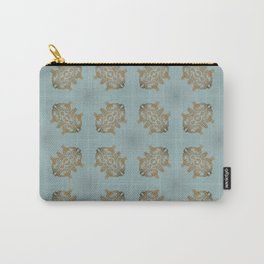 Soft Teal Blue & Gold No. 6 Carry-All Pouch