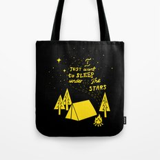 I Just Want To Sleep Under The Stars Tote Bag