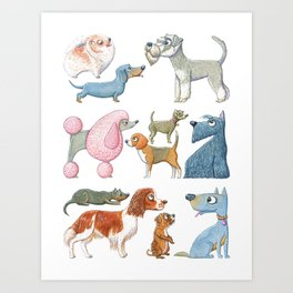 All About Dogs Art Print