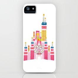 25th Birthday Magic Cake Castle iPhone Case