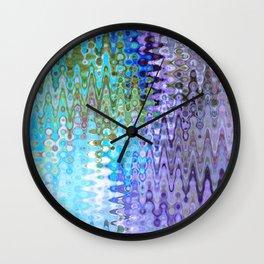 Charming Distractions, Abstract Art Waves Wall Clock