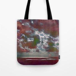 Pink Seas and Clouds Tote Bag