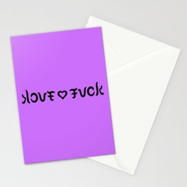 Funny love fuck ambigram Stationery Cards