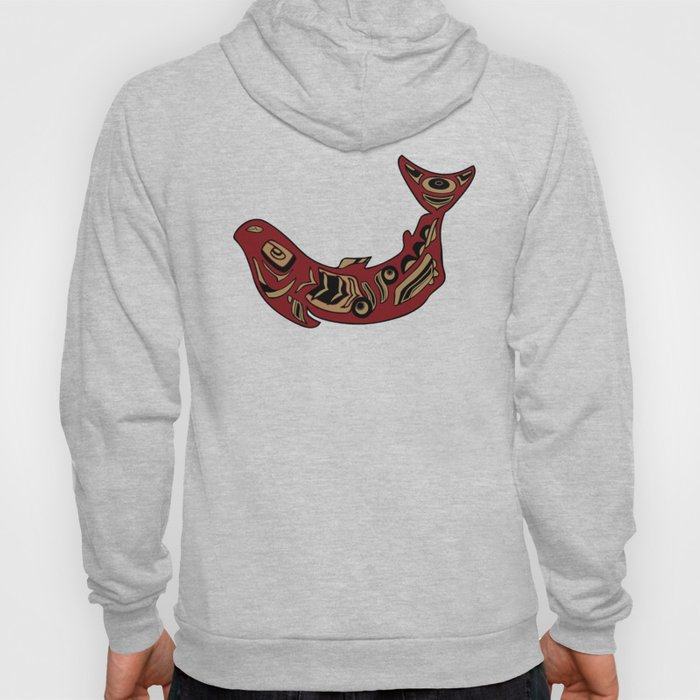 Pacific Northwest Salmon Native American Indian Art Hoody