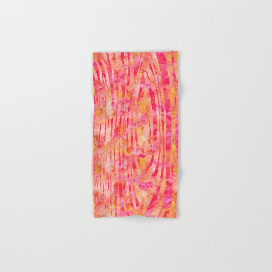 Orange Wood Print Hand & Bath Towel