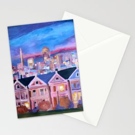 San Francisco - Painted Ladies - Alamo Sq Stationery Cards