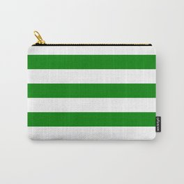 Horizontal stripes / green Carry-All Pouch
