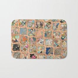 Vintage copper grid patchwork Bath Mat