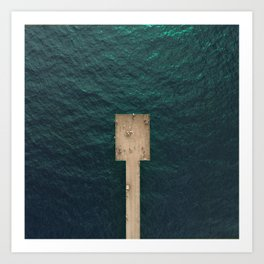 Pier From Above Art Print