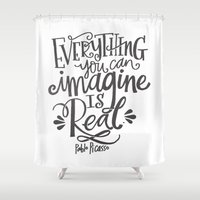 imagine Shower Curtains featuring IMAGINE by Matthew Taylor Wilson