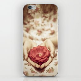 Rose in her hands II iPhone Skin