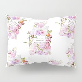Parfum Perfume Fashion Floral Flowers Blooming Bouquet Pillow Sham