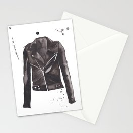 Motorcycle Jacket Stationery Cards