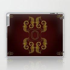 Letter O seahorse monogram Laptop & iPad Skin